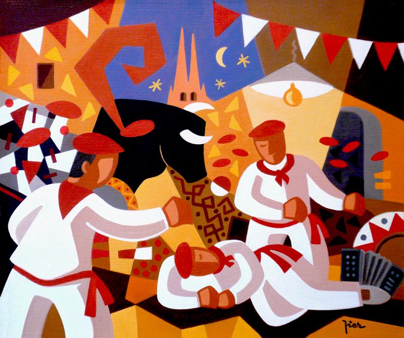Collections priv es pier peintre basque - Peinture bayonne ...